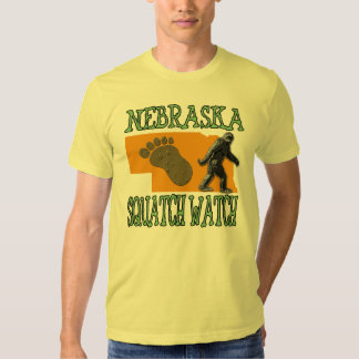 Nebraska Squatch Watch Tee Shirt