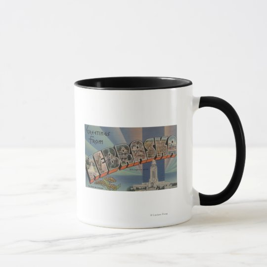 Nebraska (State Capital/Flower) Mug