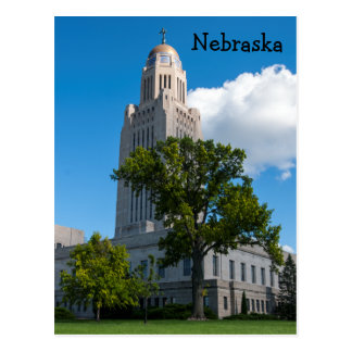 Nebraska State Capitol Building Postcard