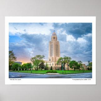 Nebraska State Capitol Poster