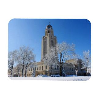 Nebraska State Capitol Rectangular Photo Magnet