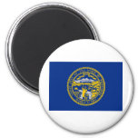 Nebraska State Flag 2 Inch Round Magnet