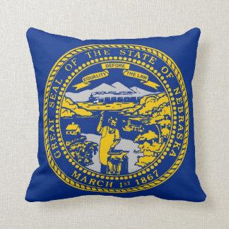 Nebraska State Flag American MoJo Pillow