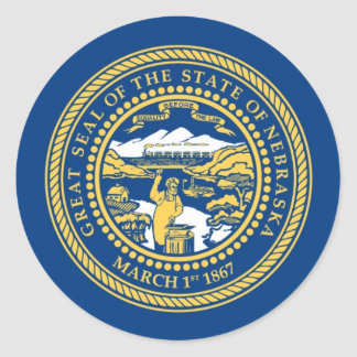 Nebraska State Flag Classic Round Sticker