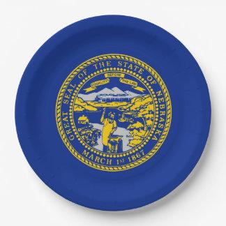 Nebraska State Flag Design Decor Paper Plate