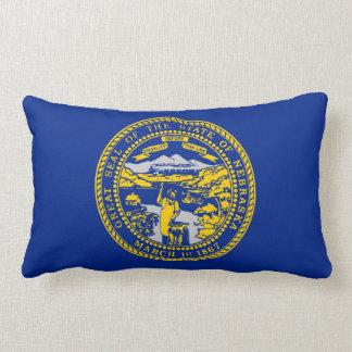 Nebraska State Flag Design Lumbar Pillow