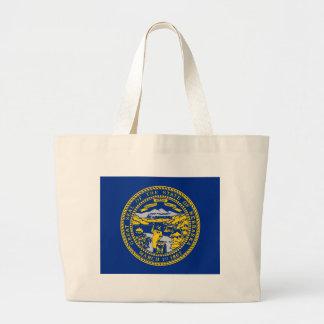 Nebraska State Flag Large Tote Bag