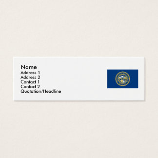 Nebraska State Flag Mini Business Card