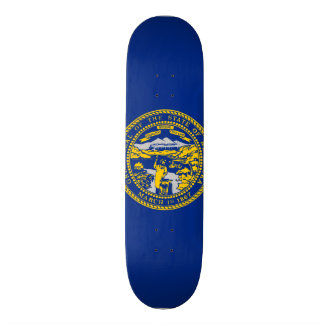 Nebraska State Flag Skate Deck