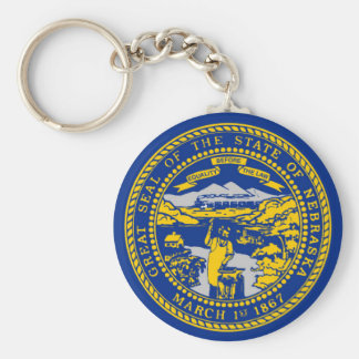 nebraska state flag united america republic symbol basic round button keychain