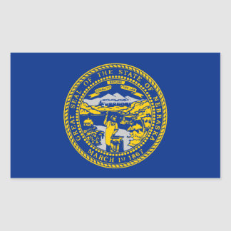 Nebraska State Flag, United States Rectangular Sticker