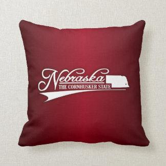 Nebraska State of Mine Throw Pillow