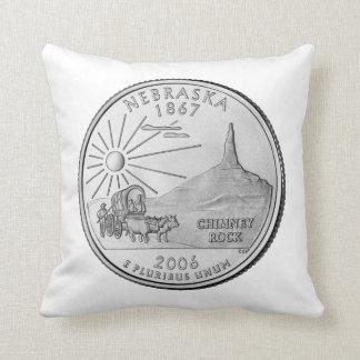 Nebraska State Quarter Pillow