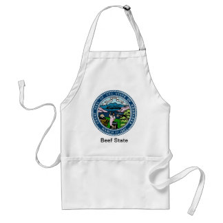 Nebraska State Seal and Motto Adult Apron