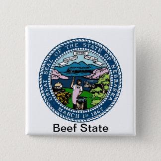 Nebraska State Seal and Motto Button
