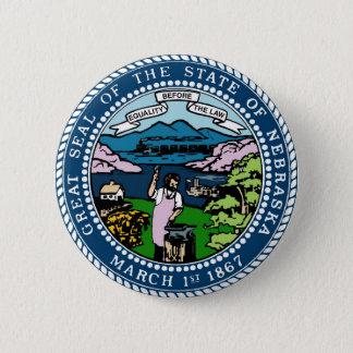 Nebraska State Seal and Motto Pinback Button