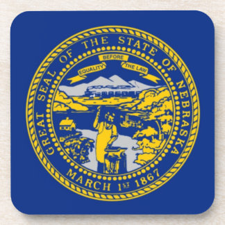 Nebraska State Seal Cork Coaster