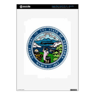 Nebraska State Seal Decal For iPad 3
