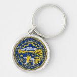 Nebraska State Seal Keychain