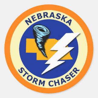 Nebraska Storm Chaser Classic Round Sticker