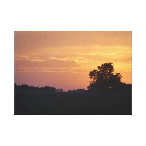 Nebraska Sunset middle Canvas Print