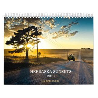 Nebraska Sunsets 2013 Calendar