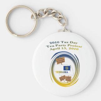 Nebraska Tax Day Tea Party Protest Keychain
