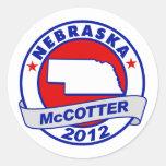Nebraska Thad McCotter Round Stickers