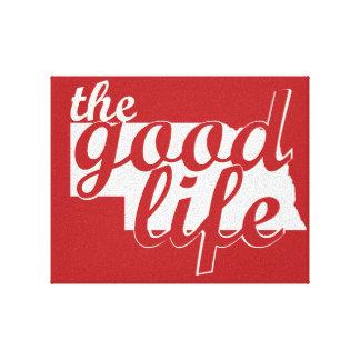 Nebraska - The Good Life Canvas Print