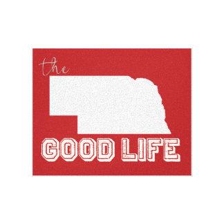 Nebraska - The Good Life version 2 Canvas Print