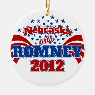 Nebraska with Romney 2012 Ceramic Ornament