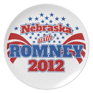 Nebraska with Romney 2012 Dinner Plate