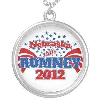 Nebraska with Romney 2012 Round Pendant Necklace