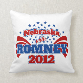 Nebraska with Romney 2012 Throw Pillow