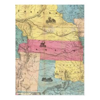 Nebraska y Kansas 3 Postales