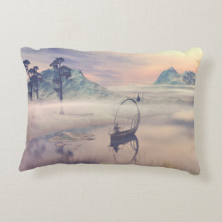 Nebula above the river accent pillow