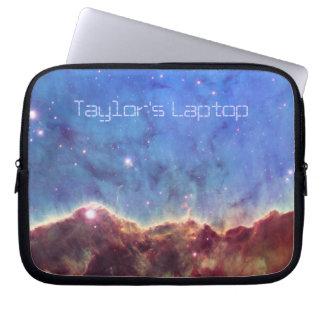Nebula and Blue Sky Laptop Sleeve *personalize*