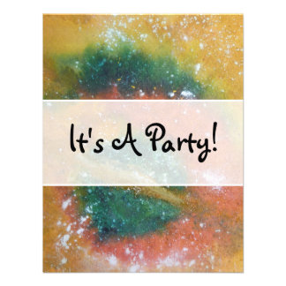 Nebula and Planets Invitation