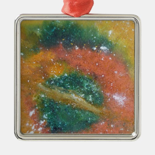 Nebula and Planets. Metal Ornament