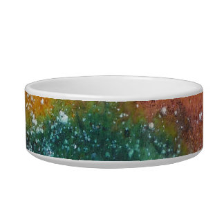 Nebula and Planets Pet Water Bowls