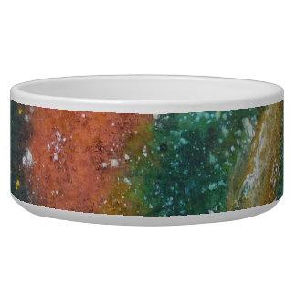 Nebula and Planets Dog Bowl