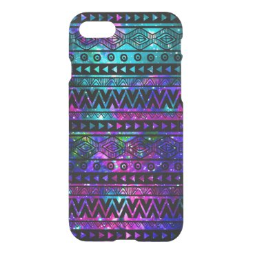 Aztec Themed Nebula Aztec Teal Blue Pink Uncommon iPhone 7 Case