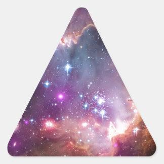 Nebula bright space stars galaxy hipster geek cool triangle sticker