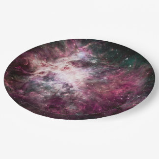 Nebula Formation in Outer Space Paper Plate