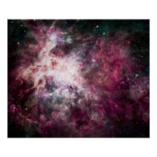 Nebula Formation in Outer Space Poster