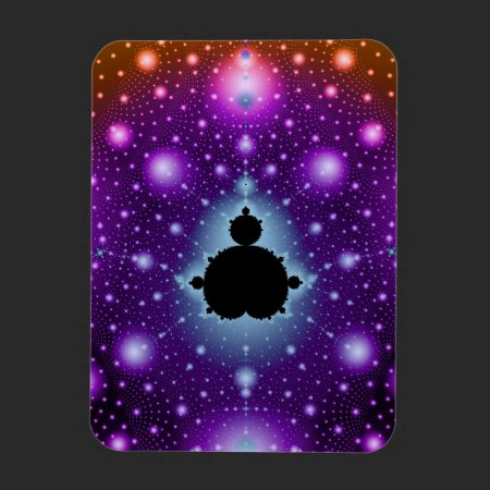 Nebula Fractal Rectangular Photo Magnet