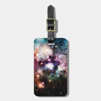 Nebula Galaxy Stars Luggage Tag by OrganicSaturation at Zazzle