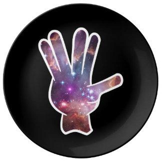 Nebula Hand Gesture Dinner Plate