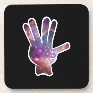 Nebula Hand Print Coaster