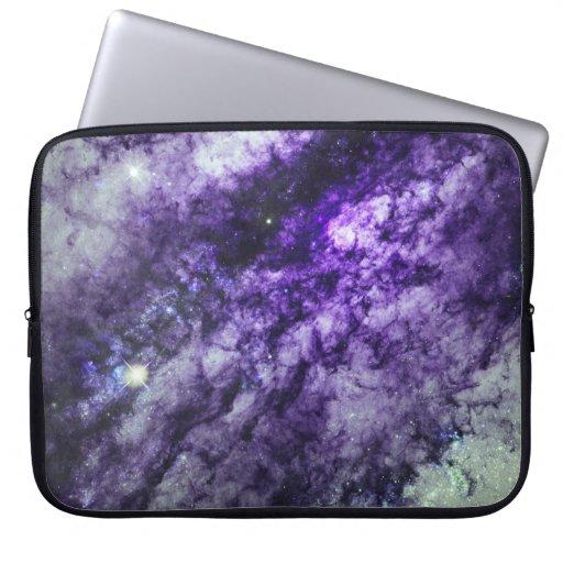 Nebula in Purple Laptop Sleeve